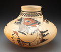 American Indian Art:Pottery, A Hopi Polychrome Jar. Dawn Navasie...