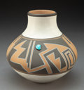 American Indian Art:Pottery, An Isleta Polychrome Jar. Stella Teller...
