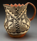 American Indian Art:Pottery, An Acoma Polychrome Pitcher...