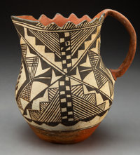 An Acoma Polychrome Pitcher