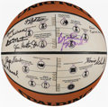 Basketball Collectibles:Balls, Minneapolis/Los Angeles Lakers Multi-Signed Limited Editio...