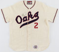 Baseball Collectibles:Uniforms, 1994 Scott Hemond Game Worn & Signed Oakland AthleticsThrowback Uniform....