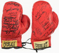 Boxing Collectibles:Autographs, Multi-Signed Boxing Glove Lot of 2. Offered are tw...