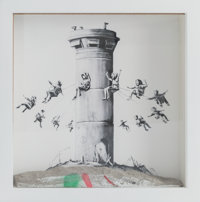 Banksy X The Walled Off Hotel Walled Off Hotel Box, 2017 Lithograph with concrete in acrylic box 10 x 10 x 2 inches (