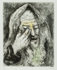 Marc Chagall (1887-1985) The Lamentations of Jeremiah, from The Bible series, 1931-39 Etching with handcoloring on