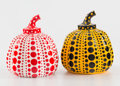 Collectible:Contemporary, Yayoi Kusama X MoMa. Red and Yellow Pumpkin (two works), n.d.. Painted cast resin, each. 4 x 3-1/4 x 3-1/4 inches (10.2 ... (Total: 2 Items)