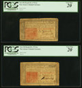 Colonial Notes:New Jersey, New Jersey March 25, 1776 6s Two Examples PCGS Very Fine 2...