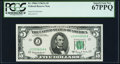 Fr. 1968-J $5 1963A Federal Reserve Note. PCGS Superb Gem New 67PPQ