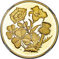 "Canada, Canada: Elizabeth II 14-Piece Group of Certified gold Proof""Provincial Flower Series"" 350 Dollars 1998-2011 Ultra Cam..."