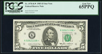 Fr. 1978-K* $5 1985 Federal Reserve Star Note. PCGS Gem New 65PPQ