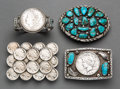 American Indian Art:Jewelry and Silverwork, Four Southwest Jewelry Items. c. 1970 - 1990... (Total: 4 Items)