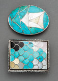 American Indian Art:Jewelry and Silverwork, Two Southwest Belt Buckles... (Total: 2 Items)