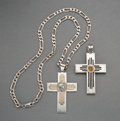American Indian Art:Jewelry and Silverwork, Two Southwest-Style Silver Crosses... (Total: 2 Items)