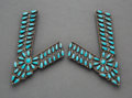 American Indian Art:Jewelry and Silverwork, Pair of Zuni Collar Tabs... (Total: 2 Items)