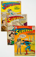 Silver Age (1956-1969):Superhero, Superman Group of 9 (DC, 1955-68) Condition: Average GD-.... (Total: 9 )