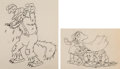 Animation Art:Limited Edition Cel, The Big Bad Wolf Big Bad Wolf, Little Red Riding Hood Animation Drawings Group of 2 (Walt Disney, 1934). ... (Total: 2 Original Art)