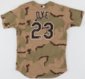 Baseball Collectibles:Uniforms, 2008 Jermaine Dye Game Worn & Signed Chicago White Sox Camouflage Alternate Uniform, MLB Authentic....