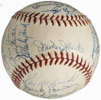 1961 American League All-Stars Team Signed Baseball (26 Signatures)