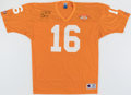 Autographs:Jerseys, Peyton Manning Signed Tennessee Volunteers Jersey. ...