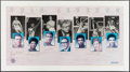 Basketball Collectibles:Others, UCLA Legends Multi-Signed Print (7 Signatures)....