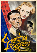 Movie Posters:Drama, Shanghai Express by Werckmeister (1947). Very Fine-.