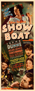 "Movie Posters:Musical, Show Boat (Universal, 1936). Very Fine- on Paper. Insert (14"" X 36"").. ..."