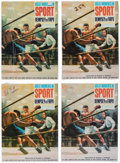 "Boxing Collectibles:Autographs, 1960's Aurora ""Great Moments in Sport"" Dempsey Vs Firpo Sealed Model Kits Quartet (4). ..."