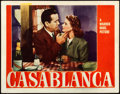 "Movie Posters:Academy Award Winners, Casablanca (Warner Brothers, 1942). Fine/Very Fine. Lobby Card (11"" X 14"").. ..."
