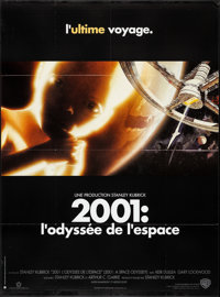 "2001: A Space Odyssey (Warner Brothers, R-2000). Folded, Very Fine+. French Grande (46"" X 62"") Robert McCall A..."