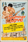 "Movie Posters:Rock and Roll, Summer Love (Universal International, 1958). Folded, Fine/Very Fine. One Sheet (27"" X 41""). Rock and Roll.. ..."