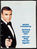 """Movie Posters:James Bond, Never Say Never Again (Warner Brothers, 1983). Very Fine-. Presskit (9"""" X 12"""") with Photos (17) (approx. 8"""" X 10""""). James Bo..."""