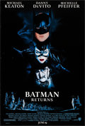 """Movie Posters:Action, Batman Returns (Warner Brothers, 1992). Rolled, Very Fine+. OneSheet (27"""" X 40"""") SS Advance. John Alvin Artwork. Action.. ..."""