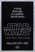Movie Posters:Science Fiction, Star Wars: The First Ten Years (Killian Enterprises, R-1987). Rolled, Very Fine. 10th Anniversary Silver Mylar One Sheet (27...