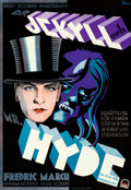 "Movie Posters:Horror, Dr. Jekyll and Mr. Hyde (Paramount, 1932). Folded, Very Fine+.Swedish Full-Bleed One Sheet (27"" X 39.5""). Gosta Aberg Artwo..."