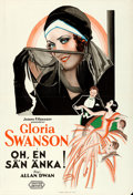 """Movie Posters:Comedy, What a Widow! (United Artists, 1930). Folded, Very Fine-. SwedishOne Sheet (26.75"""" X 39.5"""").. ..."""
