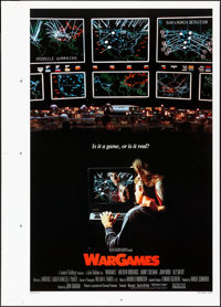 "WarGames (MGM/UA, 1983). Rolled, Very Fine+. Printer's Proof One Sheet (30"" X 42""). Science Fiction"
