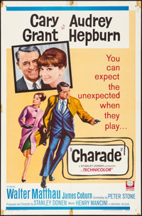 "Charade (Universal, 1963). Folded, Fine/Very Fine. One Sheet (27"" X 41""). Mystery"