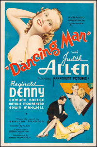 "Dancing Man (Pyramid, 1934). Fine/Very Fine on Linen. One Sheet (27"" X 41""). Mystery"