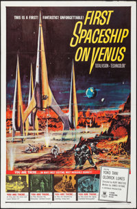 "First Spaceship on Venus (Crown International, 1962). Folded, Very Fine-. One Sheet (27"" X 41""). Science Ficti..."