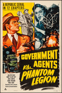 "Government Agents vs. Phantom Legion (Republic, 1951). Fine/Very Fine on Linen. Stock One Sheet (27"" X 41""). S..."
