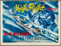 "Movie Posters:Adventure, High Flight (Columbia, 1957). Folded, Fine/Very Fine. British Quad (30"" X 40""). Adventure.. ..."