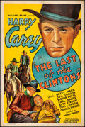 "Movie Posters:Western, The Last of the Clintons (Ajax, 1935). Fine on Linen. One Sheet(27"" X 41""). Western.. ..."