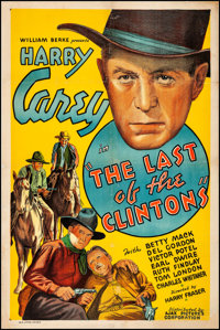 """The Last of the Clintons (Ajax, 1935). Fine on Linen. One Sheet (27"""" X 41""""). Western"""