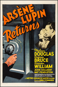 "Arsene Lupin Returns (MGM, 1938). Very Fine- on Linen. One Sheet (27"" X 41"") Style D. Mystery"