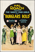"Movie Posters:Comedy, Burglars Bold (Pathé, 1921). Fine+ on Linen. One Sheet (27"" X 41"").Comedy.. ..."