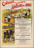 """Movie Posters:Miscellaneous, Indre Agricultural Society (1901). Fine/Very Fine on Linen. FrenchAdvertising Poster (29.75"""" X 41.5""""). Miscellaneous.. ..."""