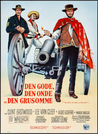 """The Good, the Bad and the Ugly (United Artists, 1968). Folded, Very Fine. Danish Poster (24"""" X 33.5""""). Western..."""