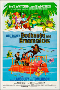 """Bedknobs and Broomsticks (Buena Vista, 1971). Folded, Very Fine. One Sheet (27"""" X 41""""). Animation"""