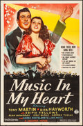 """Movie Posters:Musical, Music in My Heart (Columbia, 1940). Folded, Fine+. One Sheet (27"""" X 41"""") with Original Envelope. Musical.. ... (Total: 2 Items)"""