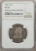 Bust Quarters, 1828 25C VG10 NGC. NGC Census: (10/133). PCGS Population: (31/267). VG10. Mintage 102,000. . From Maumee Valley Col...